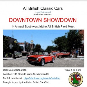 Southwest Idaho All British Field Meet - 2015